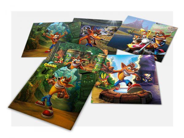 Crash Bandicoot – Pochette de lithographies