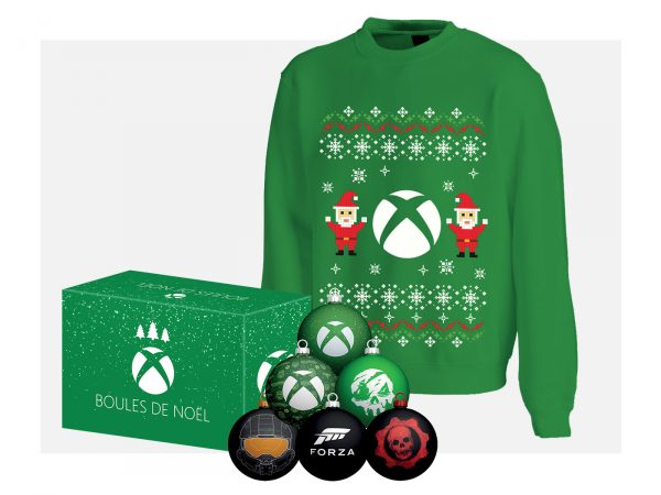 Noël Xbox – Pull et boules de Noël
